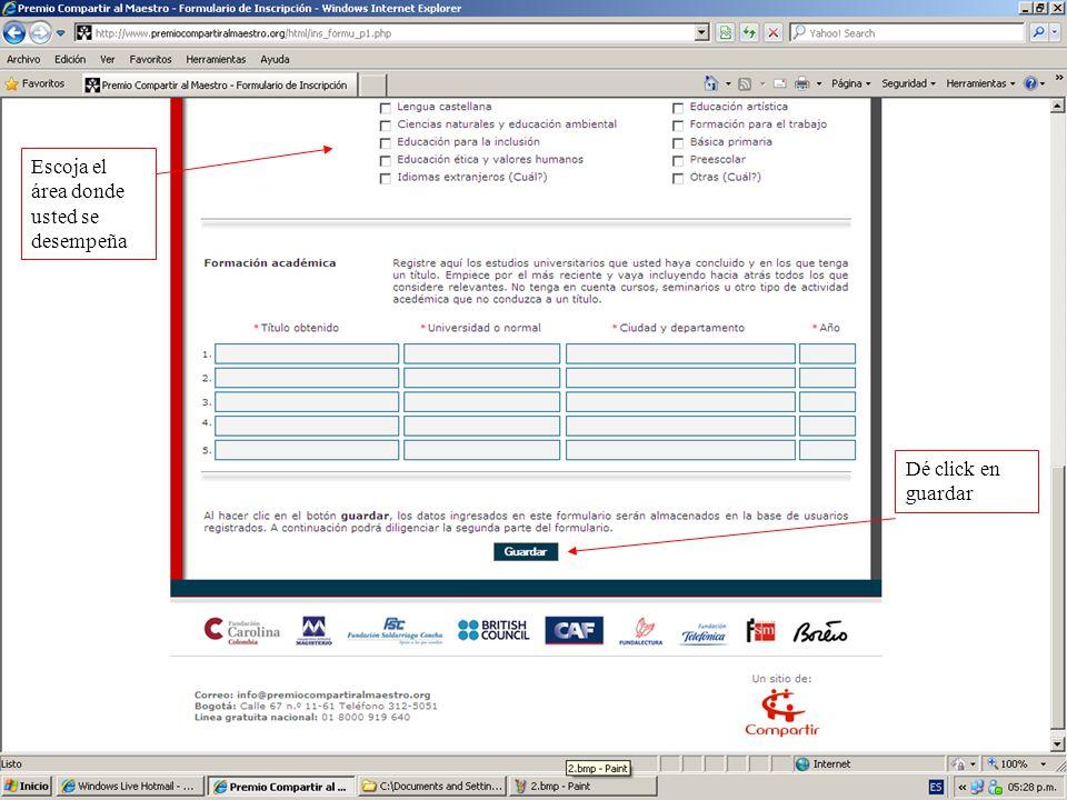 Verá un mensaje como éste, siga las instrucciones, revise su correo periódicamente.