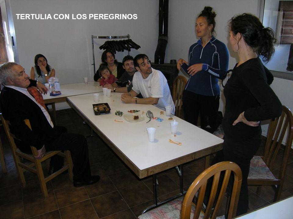 TERTULIA CON LOS PEREGRINOS