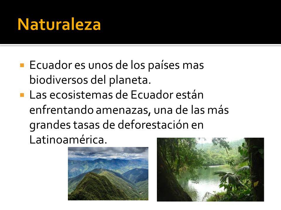 Ecuador es unos de los países mas biodiversos del planeta. Las ecosistemas de Ecuador están enfrentando amenazas, una de las más grandes tasas de defo