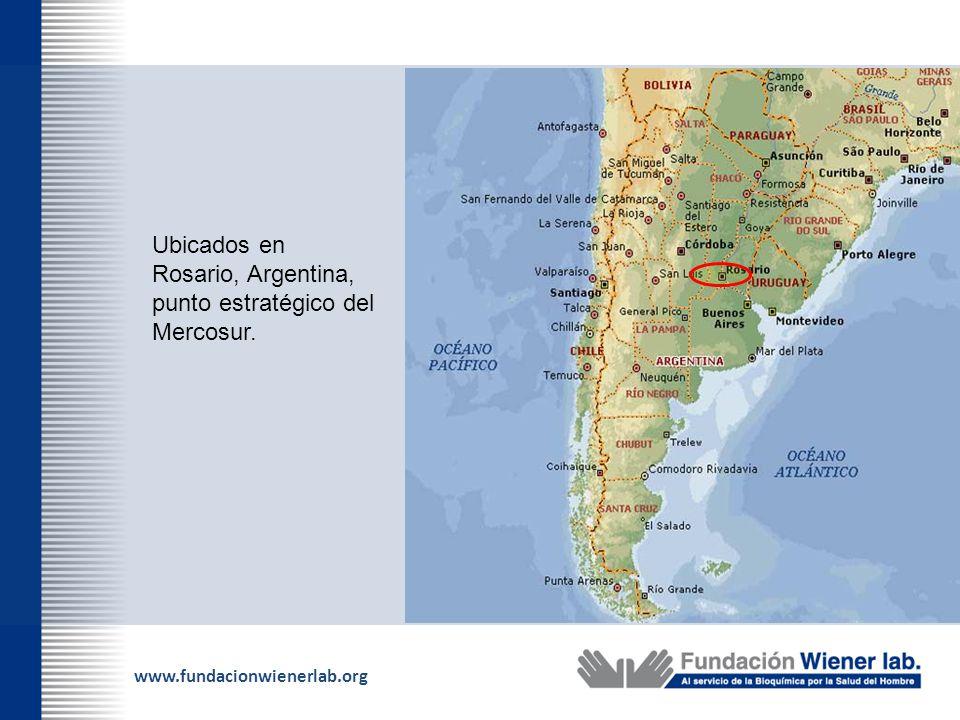 www.fundacionwienerlab.org Ubicados en Rosario, Argentina, punto estratégico del Mercosur.