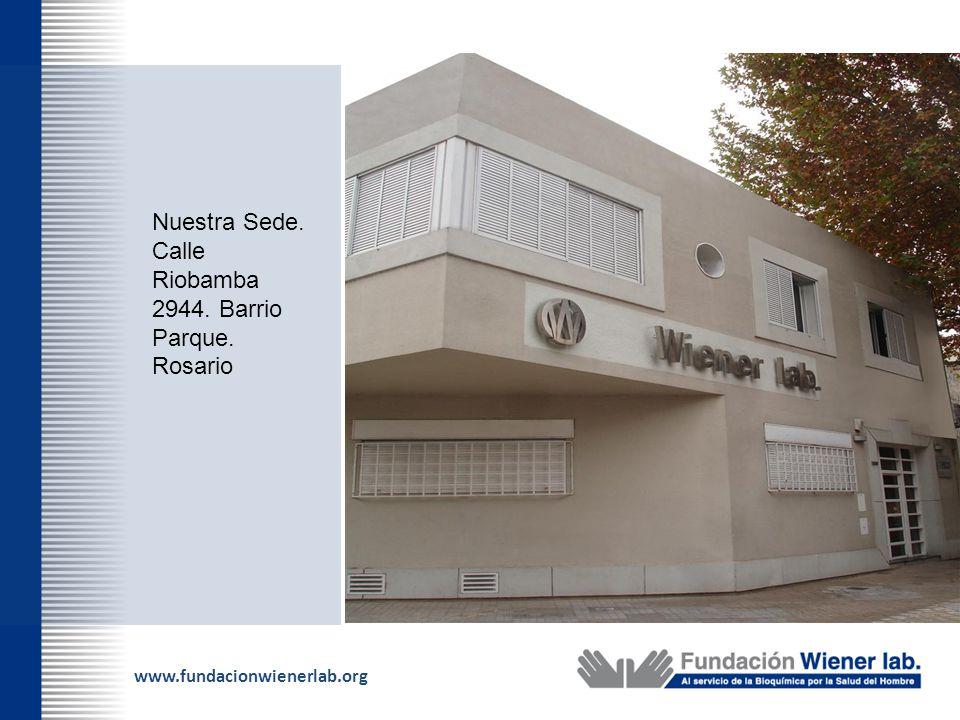 www.fundacionwienerlab.org Nuestra Sede. Calle Riobamba 2944. Barrio Parque. Rosario