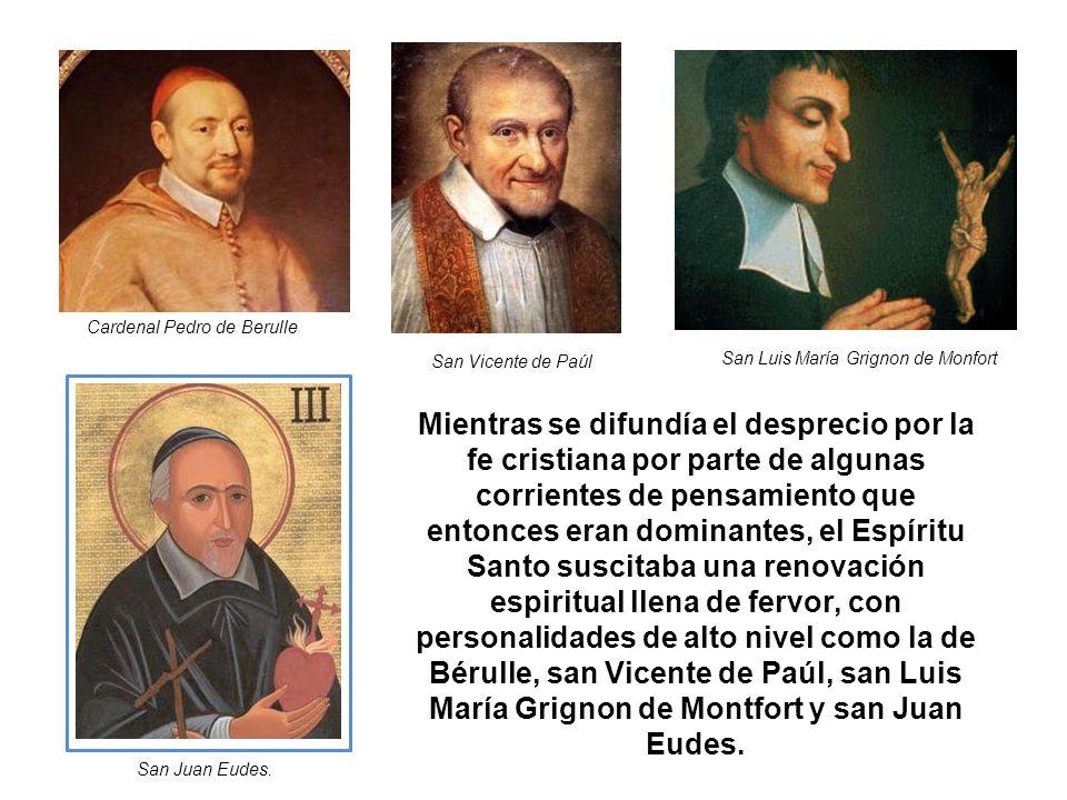 Mientras se difundía el desprecio por la fe cristiana por parte de algunas corrientes de pensamiento que entonces eran dominantes, el Espíritu Santo s
