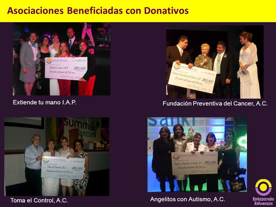 Extiende tu mano I.A.P. Fundación Preventiva del Cancer, A.C. Asociaciones Beneficiadas con Donativos Toma el Control, A.C. Angelitos con Autismo, A.C