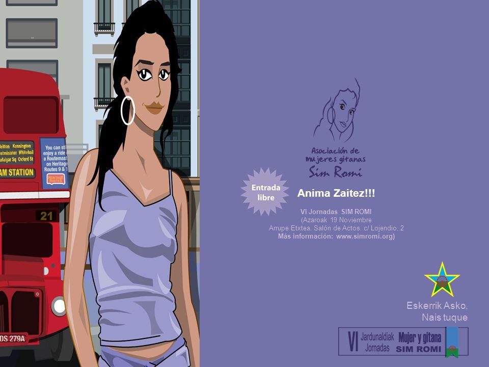 Anima Zaitez!!. VI Jornadas SIM ROMI (Azaroak 19 Noviembre Arrupe Etxtea.
