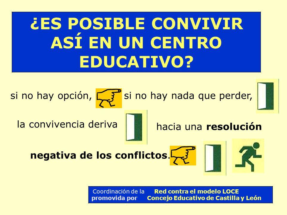 ¡QUÉ MÁS ME DA ! IMPOSIBLE CONVIVIR ASÍ Coordinación de la Red contra el modelo LOCE promovida por Concejo Educativo de Castilla y León estar en un cu