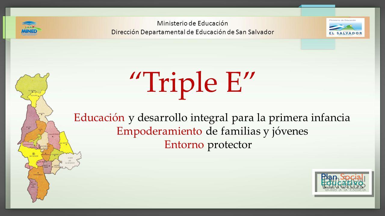 Triple E Educación y desarrollo integral para la primera infancia Empoderamiento de familias y jóvenes Entorno protector Ministerio de Educación Direc