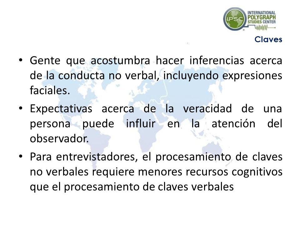 Gente que acostumbra hacer inferencias acerca de la conducta no verbal, incluyendo expresiones faciales.