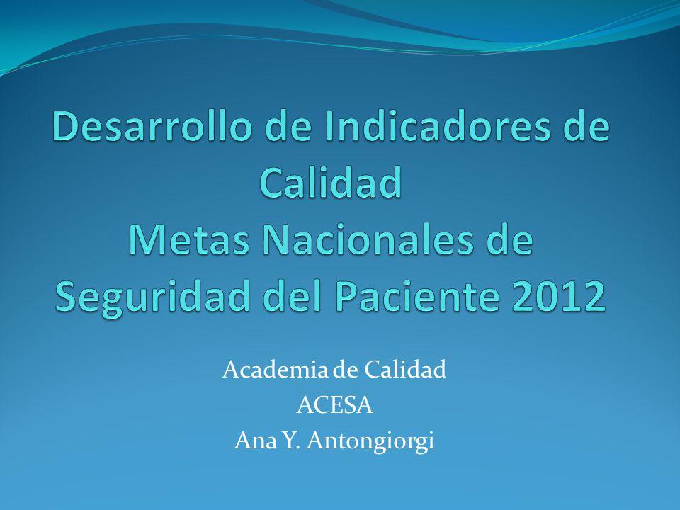 Academia de Calidad ACESA Ana Y. Antongiorgi