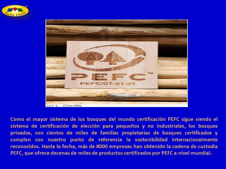 Como el mayor sistema de los bosques del mundo certificación PEFC sigue siendo el sistema de certificación de elección para pequeños y no industriales
