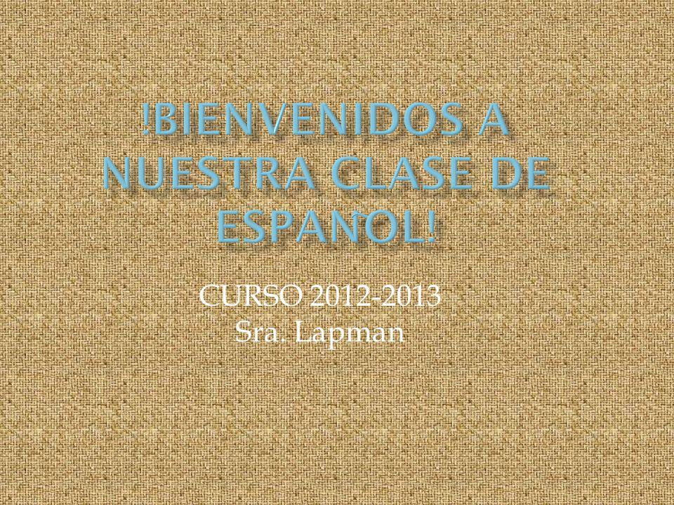 CURSO 2012-2013 Sra. Lapman