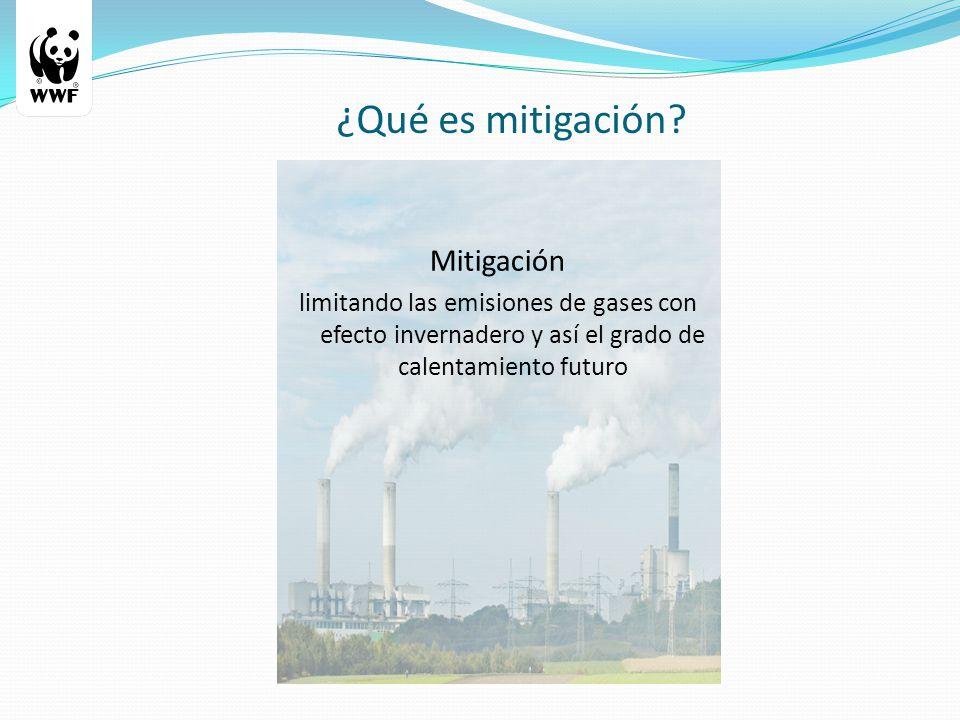 ¿Qué es mitigación.