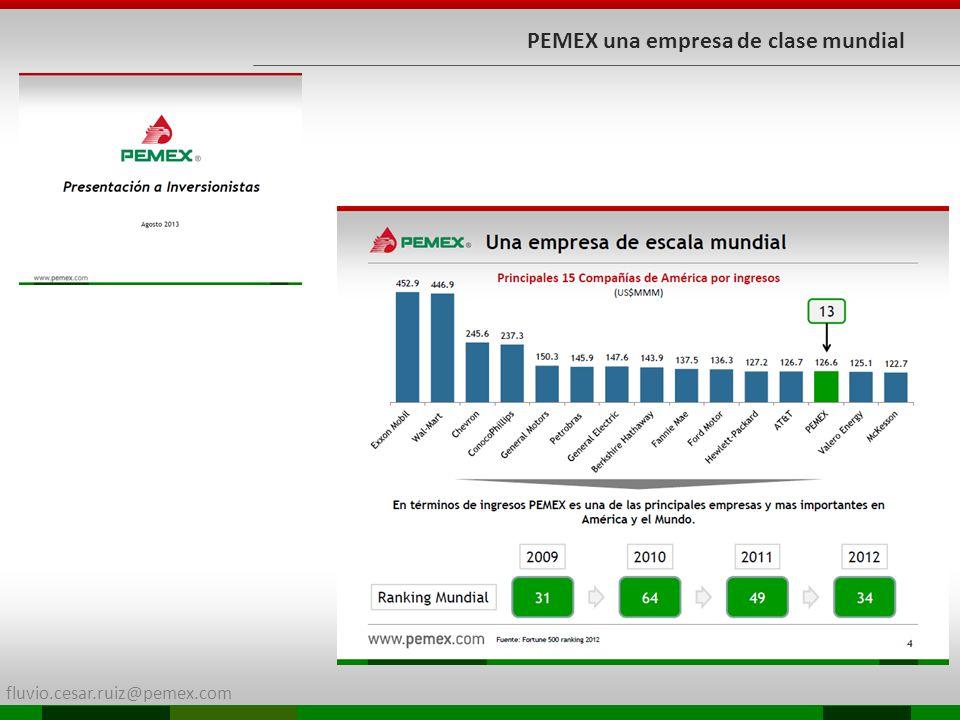fluvio.cesar.ruiz@pemex.com PEMEX una empresa de clase mundial