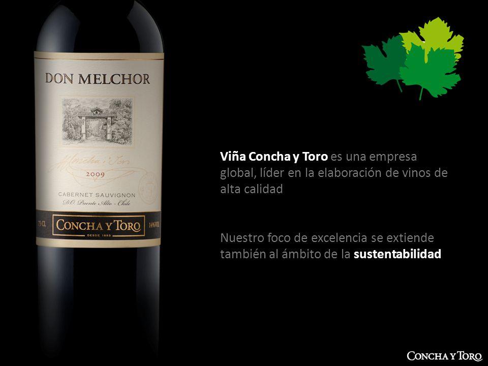GERENCIA DE DESARROLLO SUSTENTABLE | Octubre 2012 Viña Concha y Toro es una empresa global, líder en la elaboración de vinos de alta calidad Nuestro f