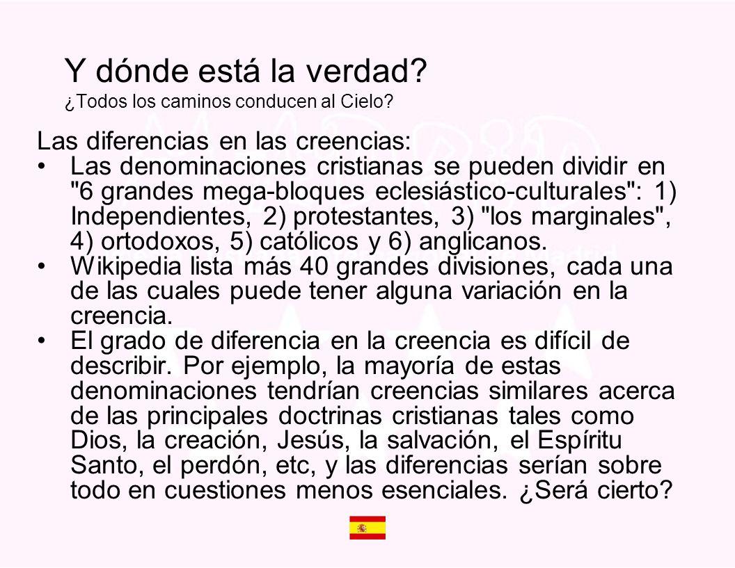 Las diferencias en las creencias: Las denominaciones cristianas se pueden dividir en