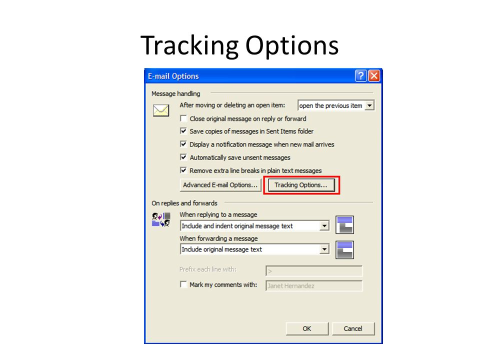 Tracking Options