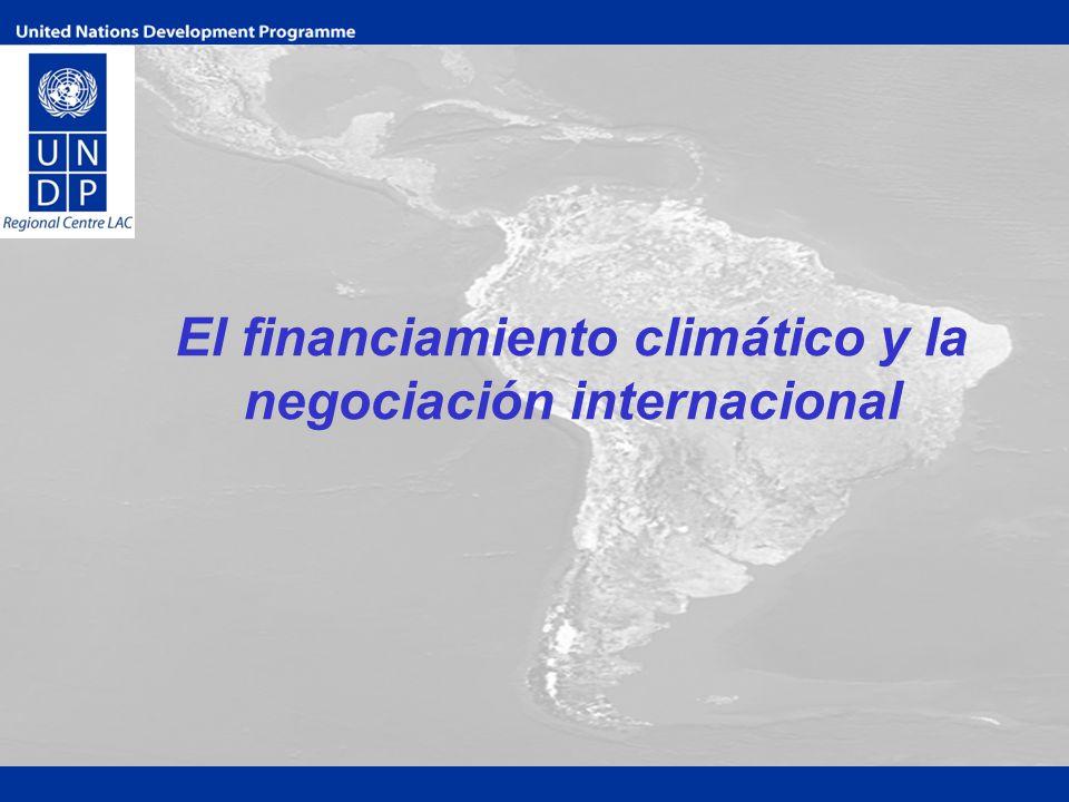 El financiamiento climático y la negociación internacional