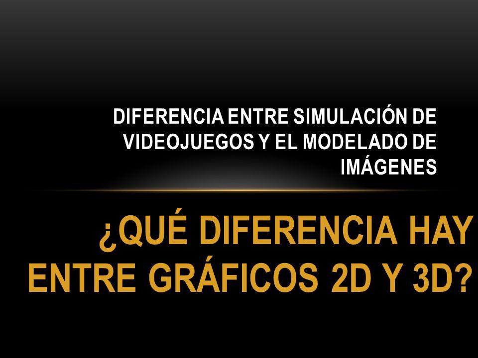 ¿QUÉ DIFERENCIA HAY ENTRE GRÁFICOS 2D Y 3D? DIFERENCIA ENTRE SIMULACIÓN DE VIDEOJUEGOS Y EL MODELADO DE IMÁGENES