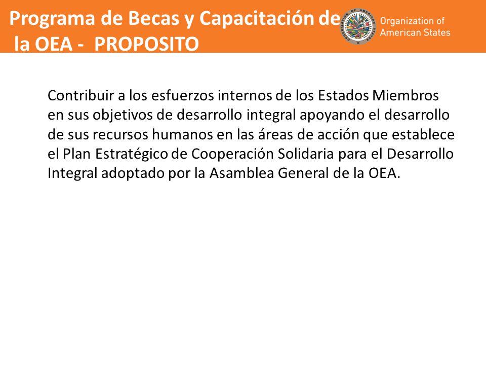 La SG/OEA determina el número de becas que pueden ser concedidas en base a la disponibilidad financiera y el listado por puntajes (ranking) de los candidatos seleccionados preparado por la Comision de Selección y presenta esta lista al Secretario General para su aprobación La SG/OEA notifica a las Misiones Permanentes, las Oficinas de la OEA en los Estados Miembros y a las ONEs acerca de la concesión de las becas de la OEA quienes a su vez notificarán a los candidatos adjudicados.