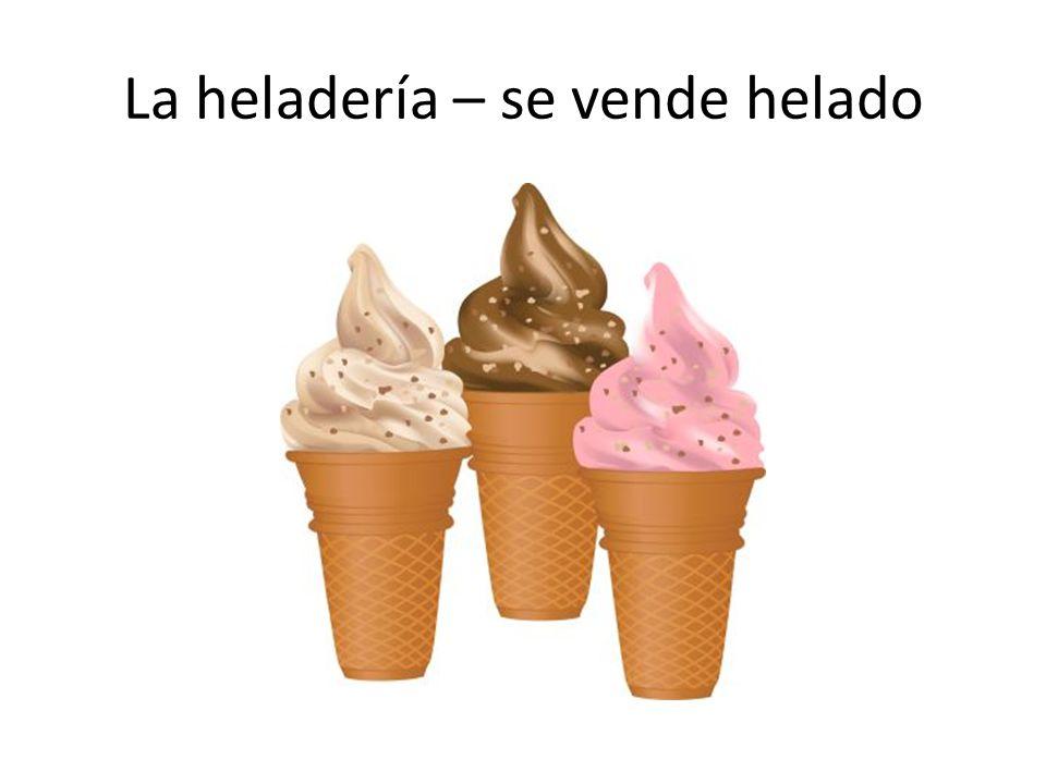 La heladería – se vende helado