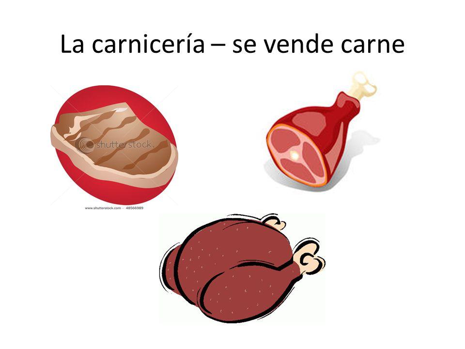 La carnicería – se vende carne
