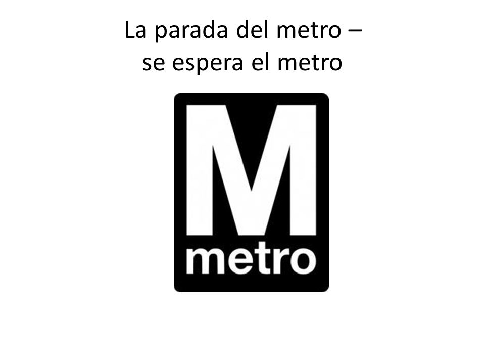 La parada del metro – se espera el metro