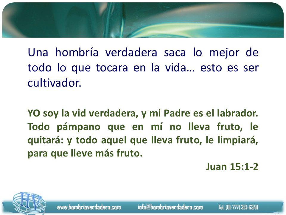 www.hombriaverdadera.com info@hombriaverdadera.com Tel. (01-777) 313-6340 Una hombría verdadera saca lo mejor de todo lo que tocara en la vida… esto e