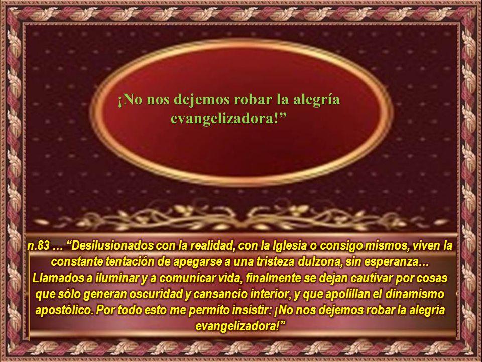¿Qué me lleva a hacer el texto? Motivación: Exhortación Apostólica: Evangelii Gaudium ¡No nos dejemos robar el entusiasmo misionero!
