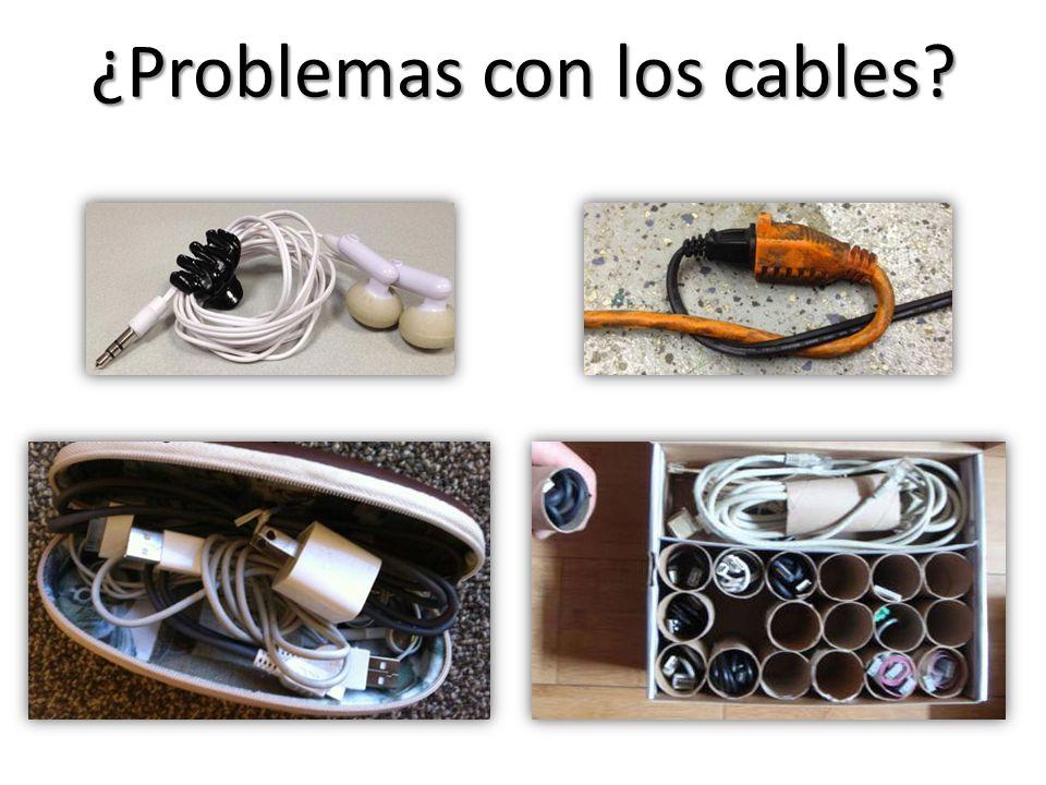 ¿Problemas con los cables?