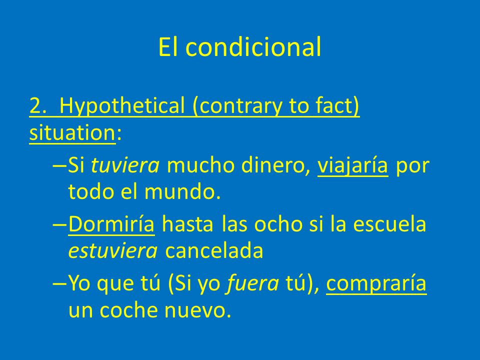 El condicional 3.Used in a past context to talk about an event that was going to happen.