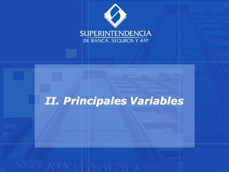 II. Principales Variables