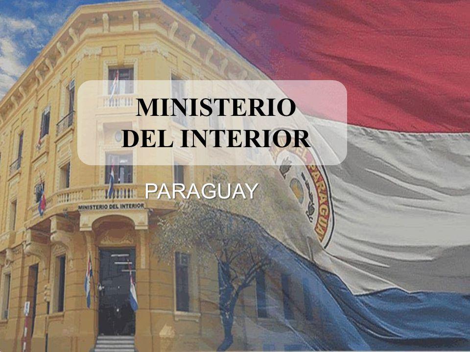 Seguridad para un Buen Gobierno FERNANDO LUGO MENDEZ Presidente de la República RAFAEL FILIZZOLA SERRA Ministro del Interior CARMELO J.