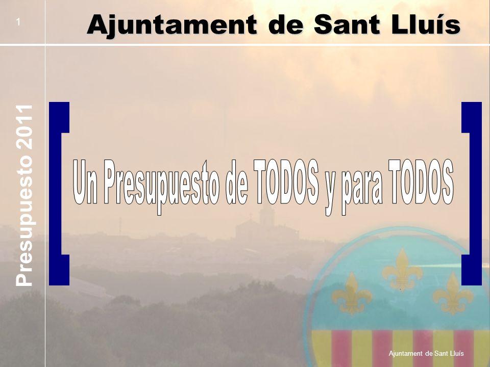Presupuesto 2011 Ajuntament de Sant Lluís 1