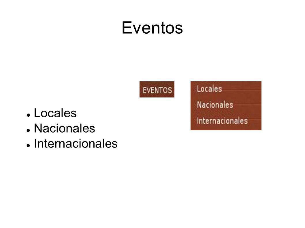 Eventos Locales Nacionales Internacionales
