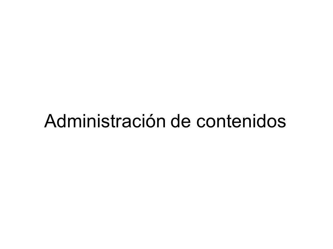 Administración de contenidos