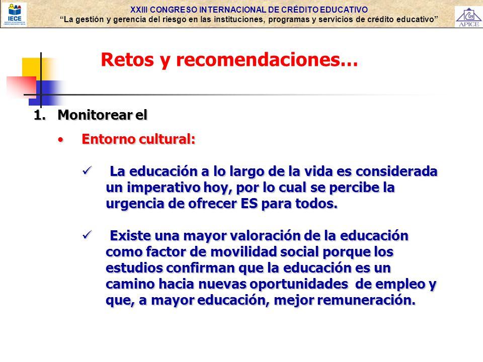 XXIII CONGRESO INTERNACIONAL DE CRÉDITO EDUCATIVO La gestión y gerencia del riesgo en las instituciones, programas y servicios de crédito educativo Re