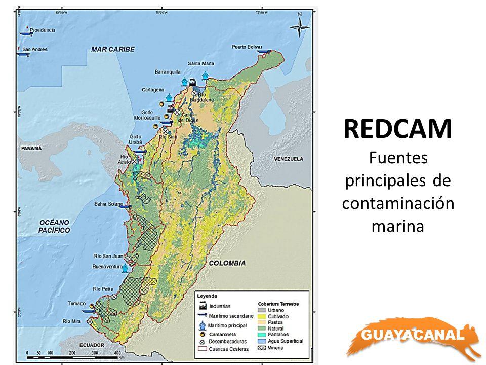 REDCAM Fuentes principales de contaminación marina