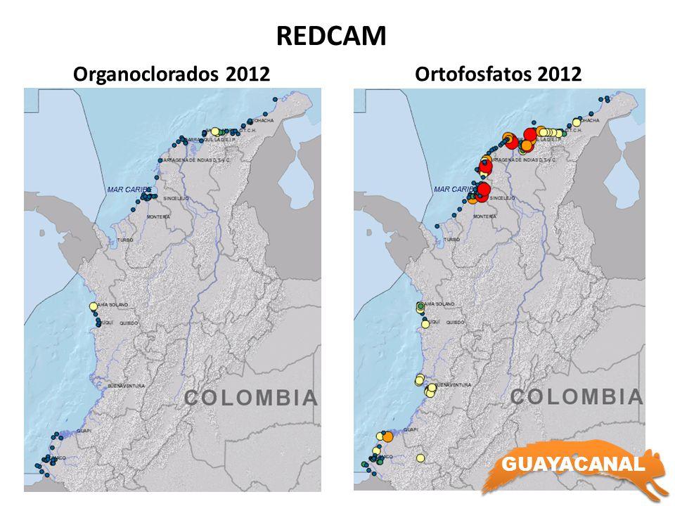 REDCAM Organoclorados 2012Ortofosfatos 2012 GUAYACANAL