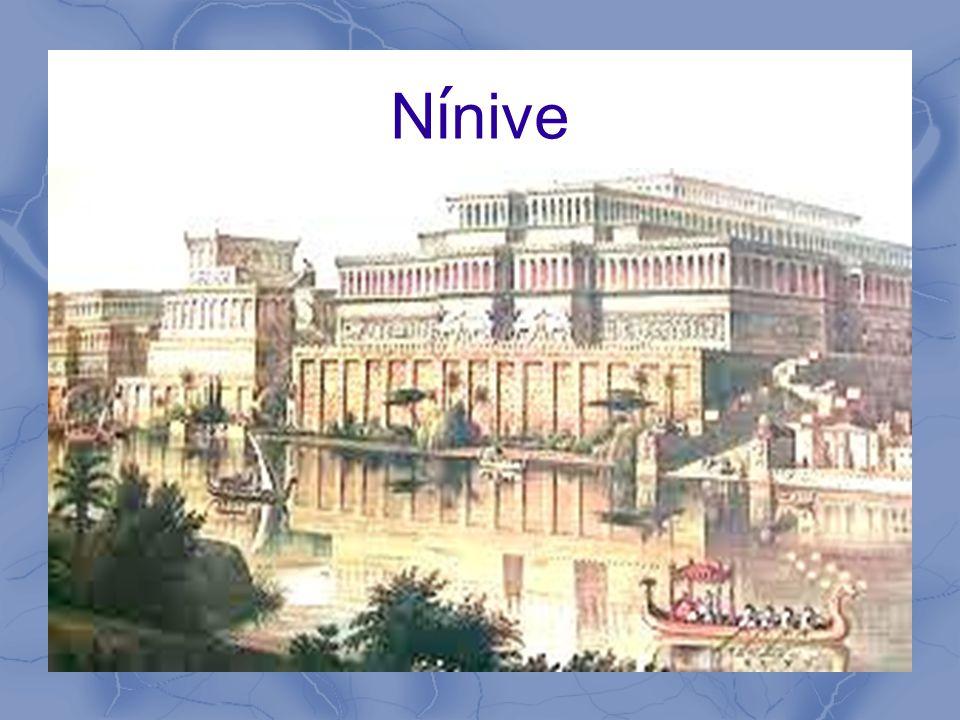 N í nive Capital de Asiria 7 ½ millas de murallas – 100 pies altura – 1500 torres de 200 pies Perimetro como I-285 ½ – 1 millon habitantes ~750 AC Superpoder mundial – Conquista Israel – Domina Judá
