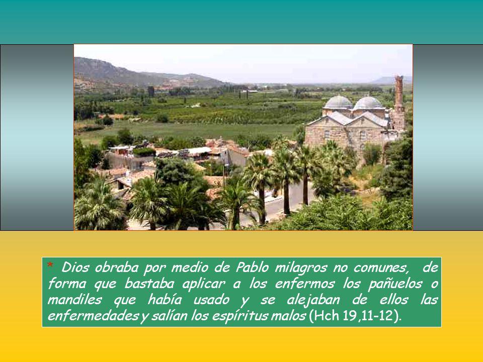 * Entre los convertidos de esta forma está Epafras, de Colosas, que al volver a su tierra creará una comunidad. De esta forma Pablo evangelizó zonas d