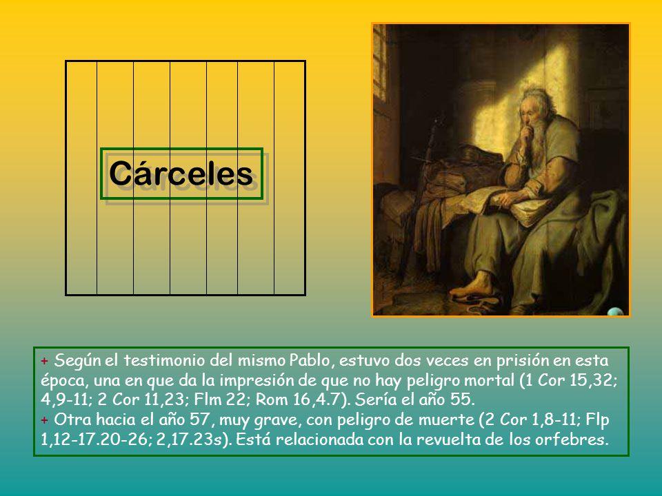 * Dios obraba por medio de Pablo milagros no comunes, de forma que bastaba aplicar a los enfermos los pañuelos o mandiles que había usado y se alejaba