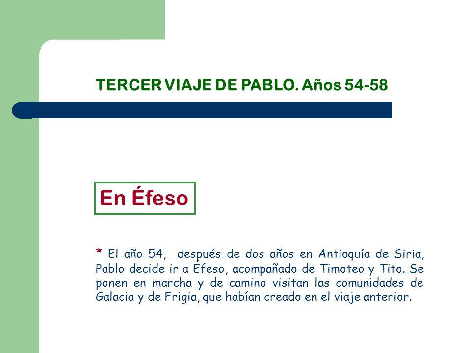 TERCER VIAJE DE PABLO.