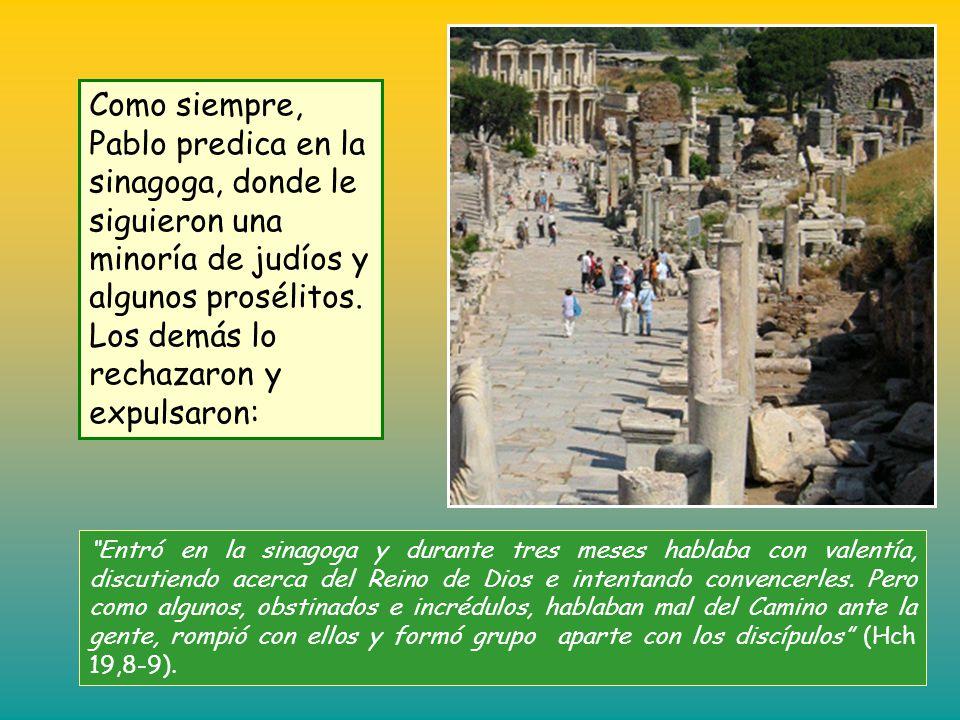 Pablo llegó a Éfeso donde encontró algunos discípulos; les preguntó: ¿Recibisteis el Espíritu Santo cuando abrazasteis la fe? Ellos contestaron: Pero