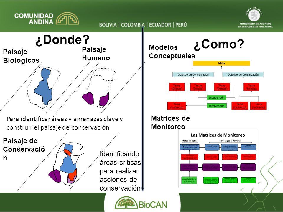 Paisaje Biologicos Paisaje Humano Modelos Conceptuales ¿Donde.