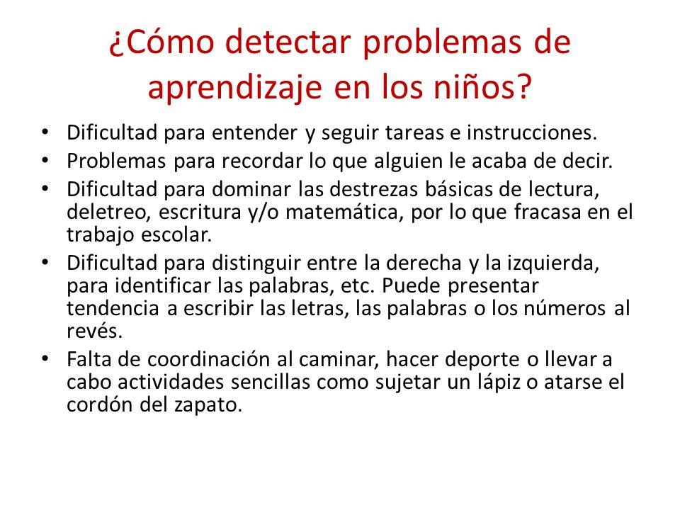 Clasificación del problema 1.TRASTORNOS DEL APRENDIZAJE.