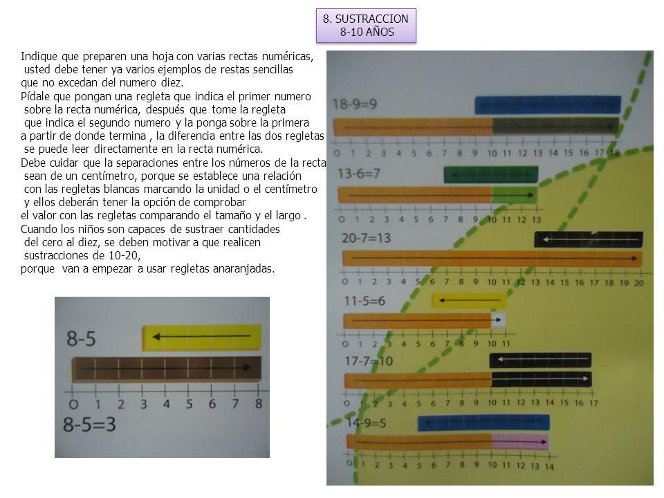 8.SUSTRACCION 8-10 AÑOS 8.