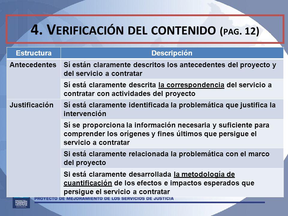 4.V ERIFICACIÓN DEL CONTENIDO ( PAG.