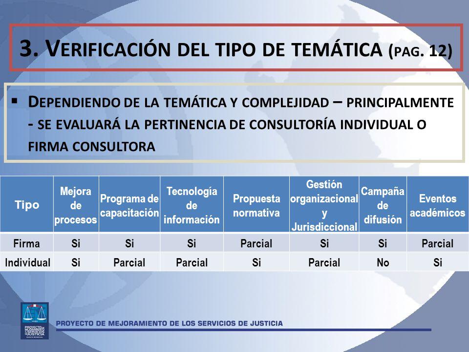 3.V ERIFICACIÓN DEL TIPO DE TEMÁTICA ( PAG.