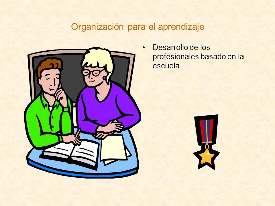 Organización para el aprendizaje Desarrollo de los profesionales basado en la escuela