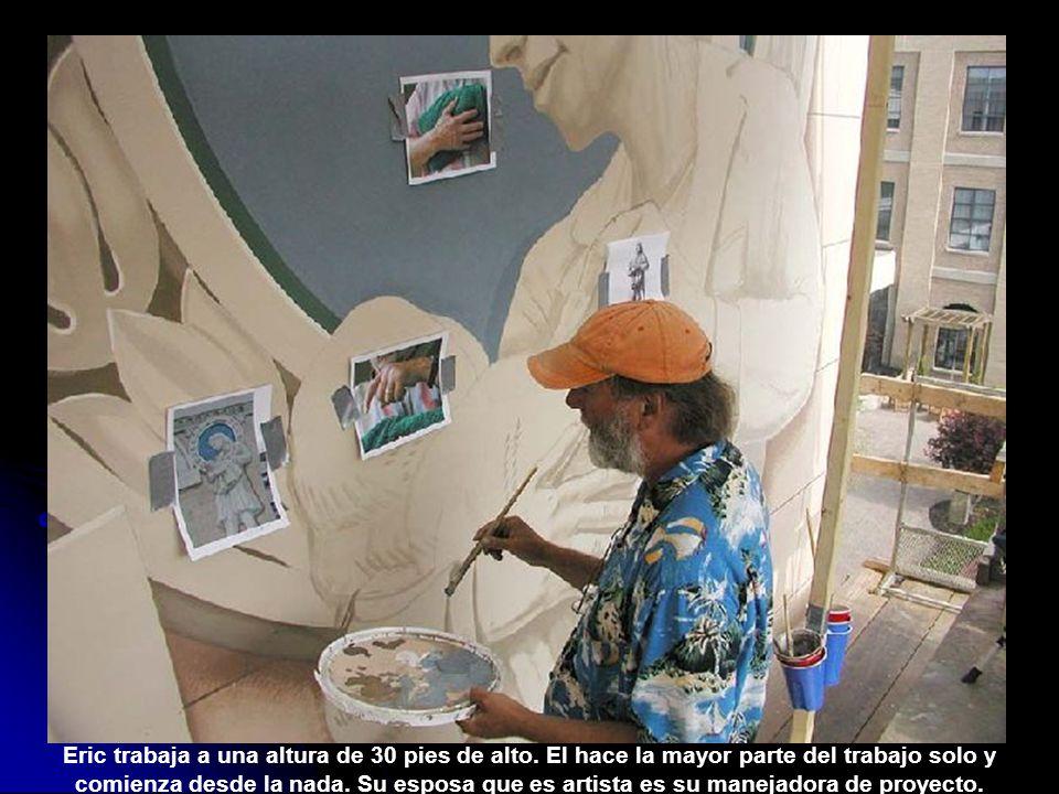 Preparación del canvas y la superficie de la pared.