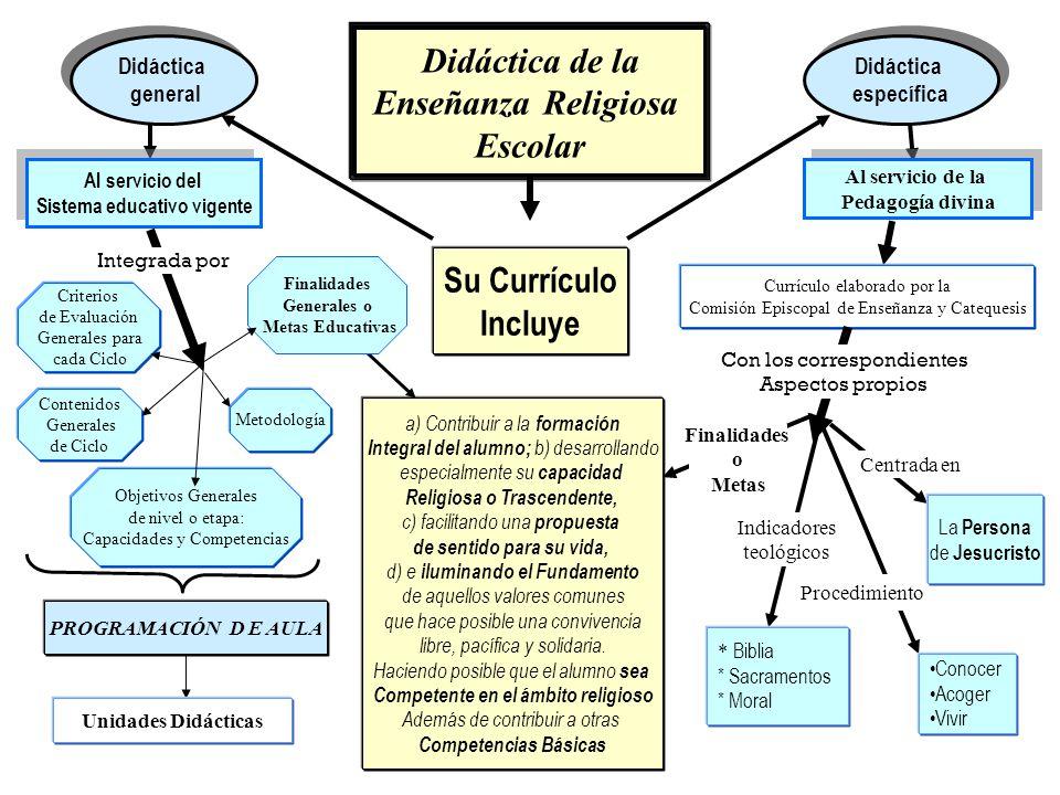 Didáctica de la Enseñanza Religiosa Escolar Su Currículo Incluye Didáctica general Didáctica general Didáctica específica Didáctica específica Objetiv